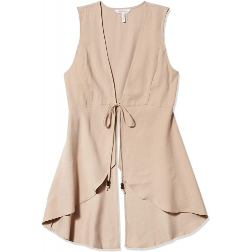BCBGeneration womens Front-tie Long Vest at  Women's Clothing store
