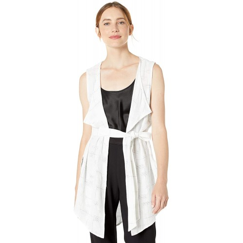 BCBGeneration womens Sleeveless Checkerboard Vest at  Women's Clothing store