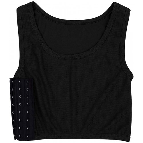 YiZYiF Chest Binder Flat Compression 3 Rows Clasp Bust Corset Tank Tops Les Vest for Women