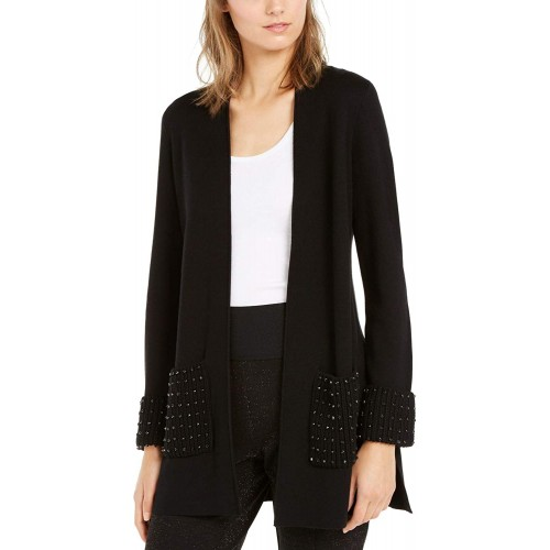 Alfani Womens Embellished Open Front Cardigan Sweater at Women's Clothing store
