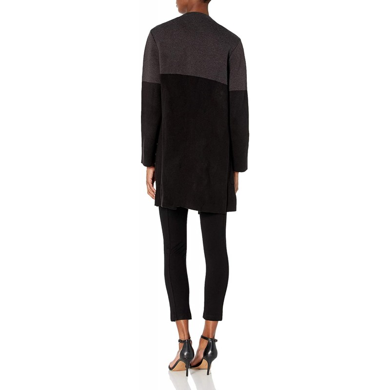 Anne Klein Women's Colorblock Long Open Front Cardigan at Women's Clothing store