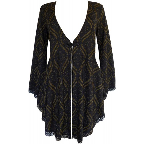 Dare to Wear Victorian Gothic Boho Women's Plus Size Embrace Corset Sweater at Women's Clothing store