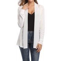 Donnalla Women's Casual Long Sleeve Sheer Shrug Cardigan Lightweight White Small at  Women's Clothing store