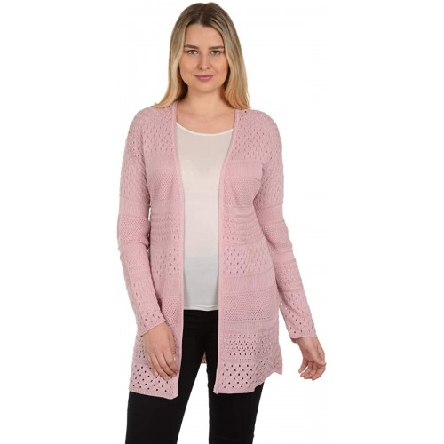 Knit Minded Women's Long Sleeve Novelty Sweater Crochet Flyaway Open Front Cardigan at  Women's Clothing store