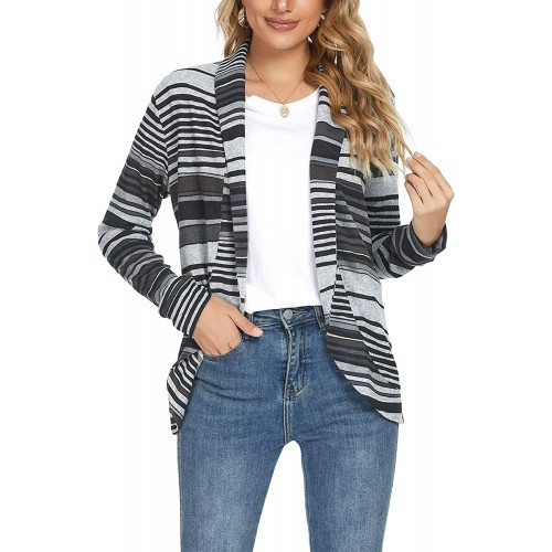 Womens Cardigan Blazer Open Front Long Sleeve Casual Basic Lightweight Cardigans at  Women's Clothing store