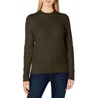 Lucky Brand Women's Crew Neck Waffle Knit Sweater at  Women's Clothing store