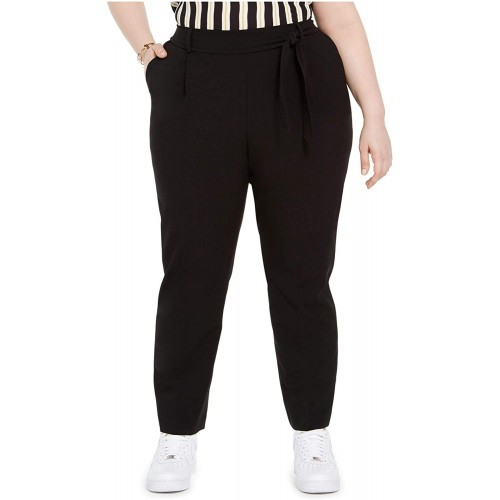 Bar III Womens Plus Tie Waist Pull On Ankle Pants at Women's Clothing store