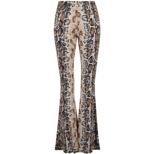 Glam and Gloria Womens Snake Snakeskin Animal Print Flared Bell Bottom Pants at  Women's Clothing store