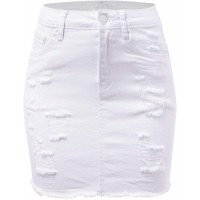FashionMille Women Popular Mid Waisted Stretch Comfy Denim Mini Skirt w Pockets at  Women's Clothing store