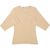 KIKI RIKI Wide Neck Long Sleeve Cotton Shell Style 14653 at  Women's Clothing store