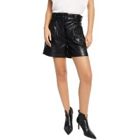 I N C CULPOS x INC Belted Faux-Leather Shorts Deep Black 0 at  Women's Clothing store