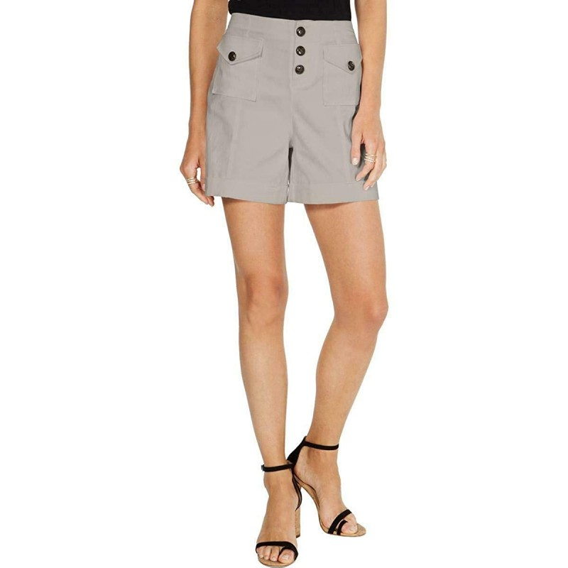 Inc International Concepts High Rise Utility Shorts Toad Beige Size 2 at Women's Clothing store