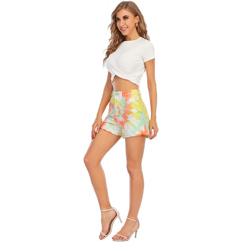 Ubrand Women's Casual Denim Shorts Edging Jeans Shorts at Women's Clothing store