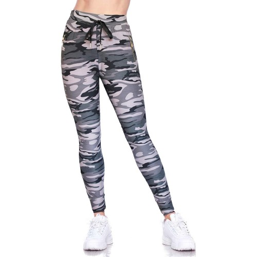 Boutique4Divas Womens Causal Buttery Soft Jogger Tapered Leggings with Zipper Pockets at  Women's Clothing store
