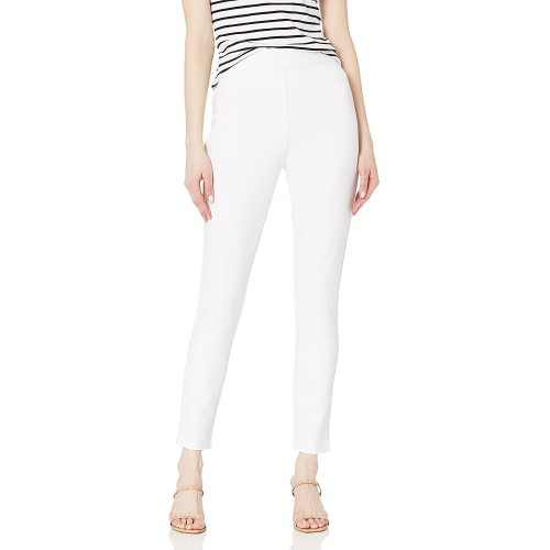 SLIM-SATION Women's Wide Elastic Pull on Solid Cool Hand Ponte Ankle Leggings Faux Front Pockets at  Women's Clothing store