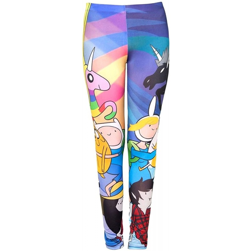 Welovefine Adventure Time Parallel Skies Junior Leggings X-Small at Women's Clothing store