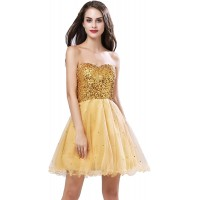 Sarahbridal Womens Short Tullle Sequins Homecoming Dresses Mine Prom Party Gowns