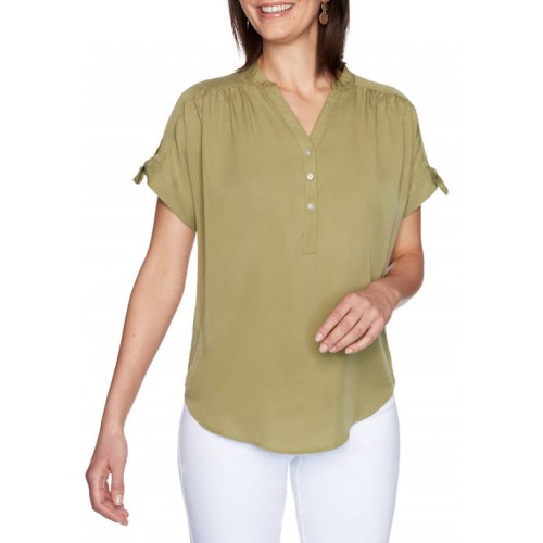 Ruby Rd Women's Must Haves I Short Sleeve Tencel® Twill Top
