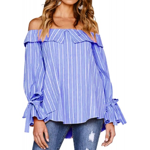 Auxo Women's Chiffon Blouses Casual V Neck 3 4 Cuffed Sleeve Floral Tunic Blouse Tops Shirt