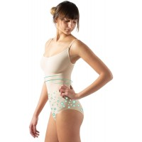 CALZITALY Seamless Anticellulite Shaping Bodysuit | White Black Skin | S M L XL | Made in Italy |