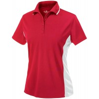 Charles River Apparel Women's Classic Wicking Polo Red White X-Large at  Women's Clothing store Polo Shirts