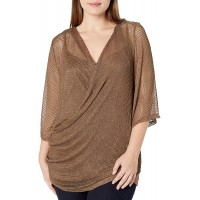 City Chic Women's Apparel Women's Plus Size Cami Style Top with Fishnet Wrap Detail Overlay at  Women's Clothing store