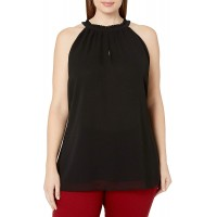 City Chic Women's Apparel Women's Plus Size Ruffled-Necked top