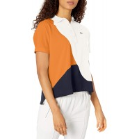 Lacoste Womens Short Sleeve Regular Fit Color Block Polo Shirt at  Women's Clothing store