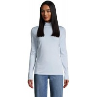 Lands' End Women's Lightweight Fitted Long Sleeve Turtleneck at  Women's Clothing store