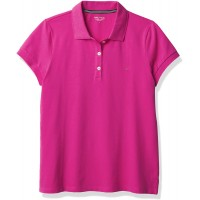 Nautica Women's Short Sleeve Stretch Solid Polo Shirt Sunset Pink Medium at  Women's Clothing store