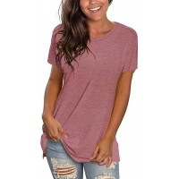 POGTMM Casual Tees for Women Short Sleeve Exercise Tee Shirts Casual Summer Tops Blouse at  Women's Clothing store