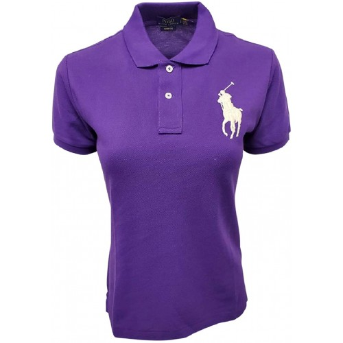 Polo Ralph Lauren Women's Skinny Fit Big Pony Polo Shirt at  Women's Clothing store
