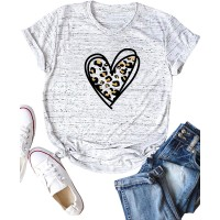 Romwe Women's Plus Size Graphic Heart Print Short Sleeve Basic Tee Tops T Shirt at  Women's Clothing store