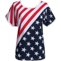 Taiduosheng Women's American Flag T Shirts 4th of July Plus Size Tee Shirt Stripe Star USA Patriotic Summer Blouse Tops at  Women's Clothing store