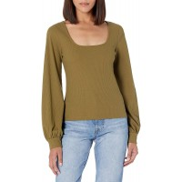 The Drop Women's @lucyswhims Square-Neck Balloon-Sleeve Top