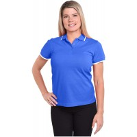 Women's Superior Blend Pique Polo Shirt at  Women's Clothing store
