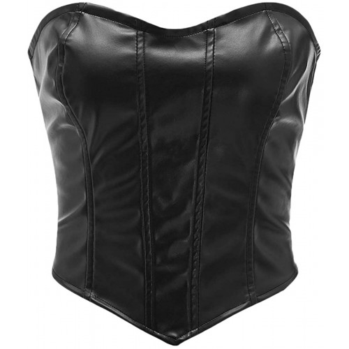 Romwe Women's Puch Up Bustiers Corsets Front Tank Slim Tube Top Party Clubwear at Women's Clothing store