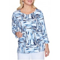 Alfred Dunner Women's Classics Animal Patch Top