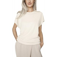 b new york Women's Dolman Sleeve Crew Neck Natural Ruched Top at  Women's Clothing store