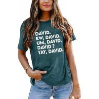 EW David Shirt Women Vintage Retro Graphic Tees Funny Novelty T Shirt for Women Causal Short Sleeve Tops Tee at  Women's Clothing store