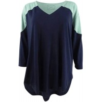 Free People Womens Two Tone V Neck Baseball Tee at  Women's Clothing store