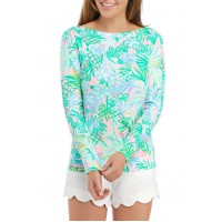 Lilly Pulitzer® Women's Long Sleeve Floral Boat Neck Top