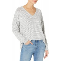 Lucky Brand Women's Long Sleeve V-Neck Stripe Jersey Top at  Women's Clothing store