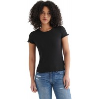 Lucky Brand Women's Short Sleeve Crew Neck Lucky Baby Tee at  Women's Clothing store