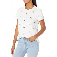 Lucky Brand Women's Short Sleeve Scoop Neck Embroidered Lemon Tee at  Women's Clothing store