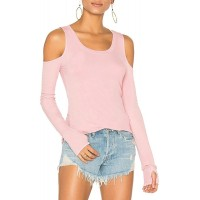 Mippo Cold Shoulder Tops for Women Long Sleeve Workout Casual Gym Tunics Shirts at  Women's Clothing store