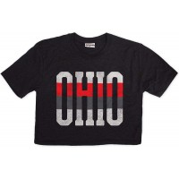 Ohio State Pride Crop Top T-Shirt | Super Soft Short Sleeve Womens Graphic Tee