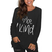 Plus Size Be Kind Tshirts Womens Graphic Tees Teacher Shirts Long Sleeve Tunic Tops at  Women's Clothing store