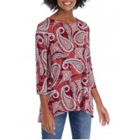 Ruby Rd Women's Must Haves Paisley Eclipse Knit Top