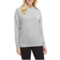 THE LIMITED LIMITLESS Women's Long Sleeve Banded Bottom Hacci Knit Top